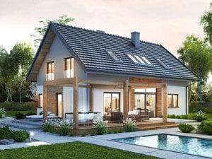 projekt Dom w silene lustrzane odbicie 1