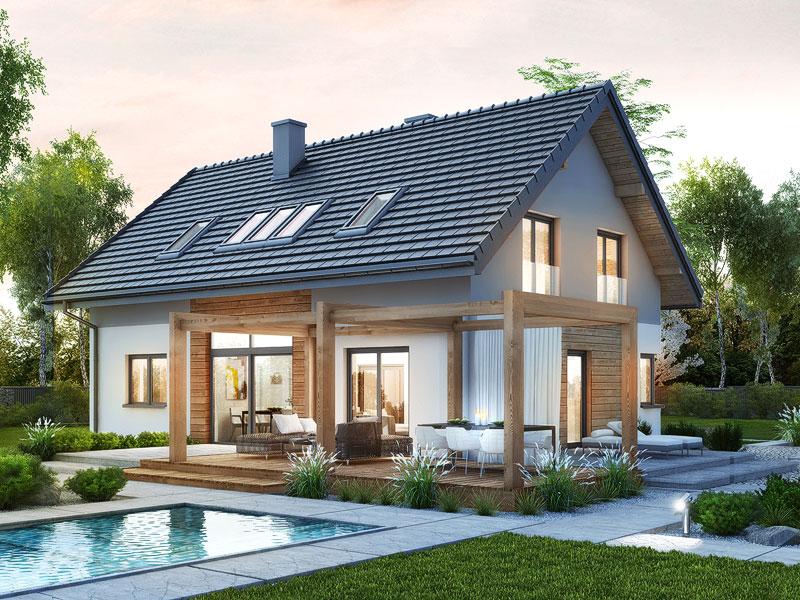 gotowy projekt Dom w silene widok 1