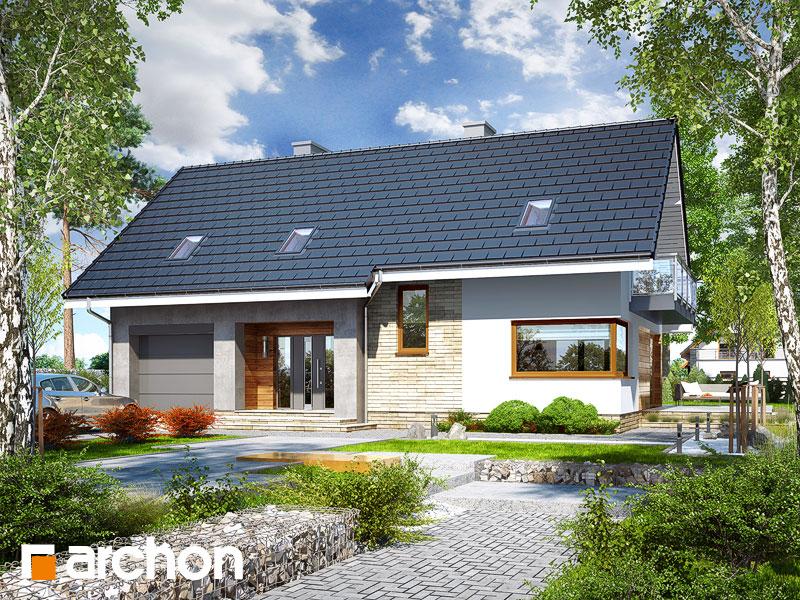 gotowy projekt Dom w jonatanach widok 1