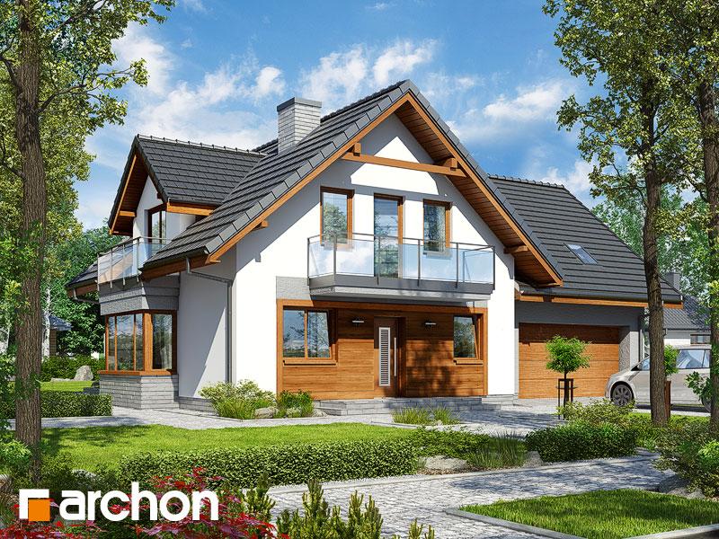 gotowy projekt Dom w rododendronach 20 (G2N) widok 1