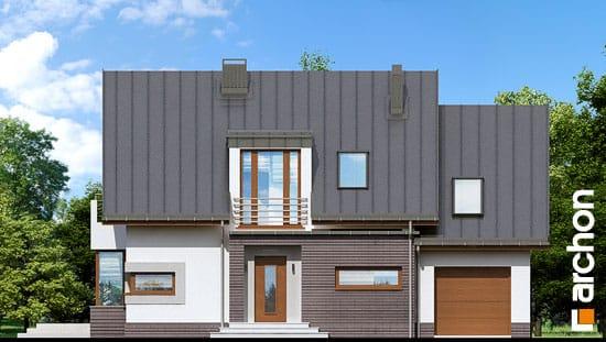 Elewacja frontowa projekt dom w kardamonie 2 ver 2  264