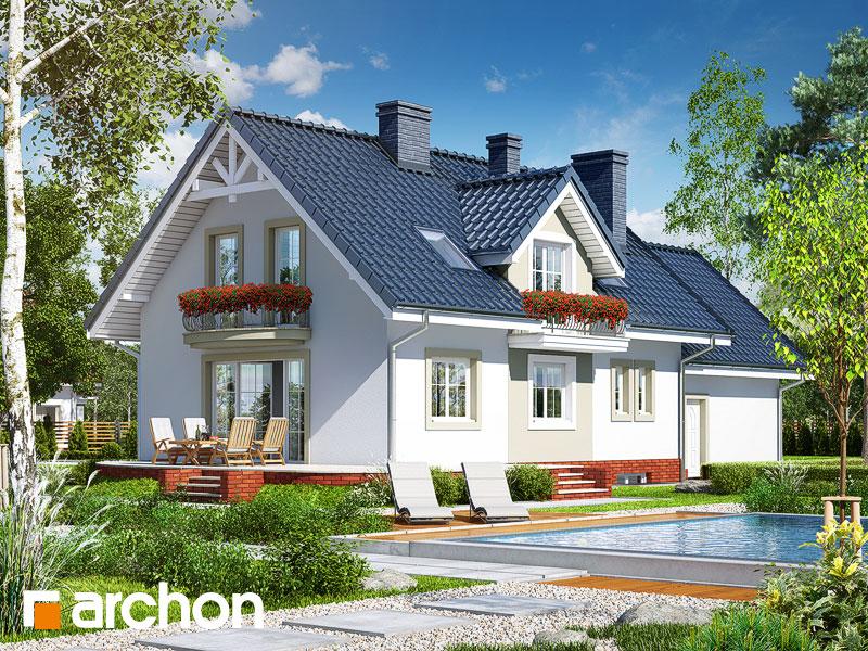gotowy projekt Dom w werbenach 7 (G2P) widok 1