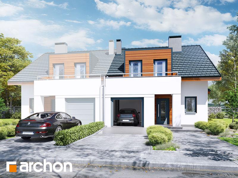 gotowy projekt Dom w klematisach 8 (B) widok 1