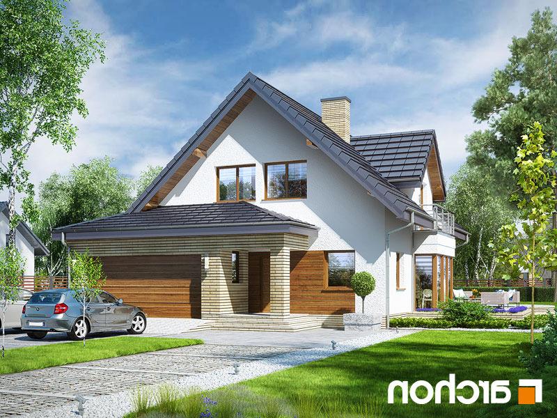 Lustrzane odbicie 1 projekt dom w swietliku g2n  289lo