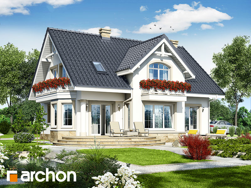 gotowy projekt Dom w mirabelkach (P) widok 1