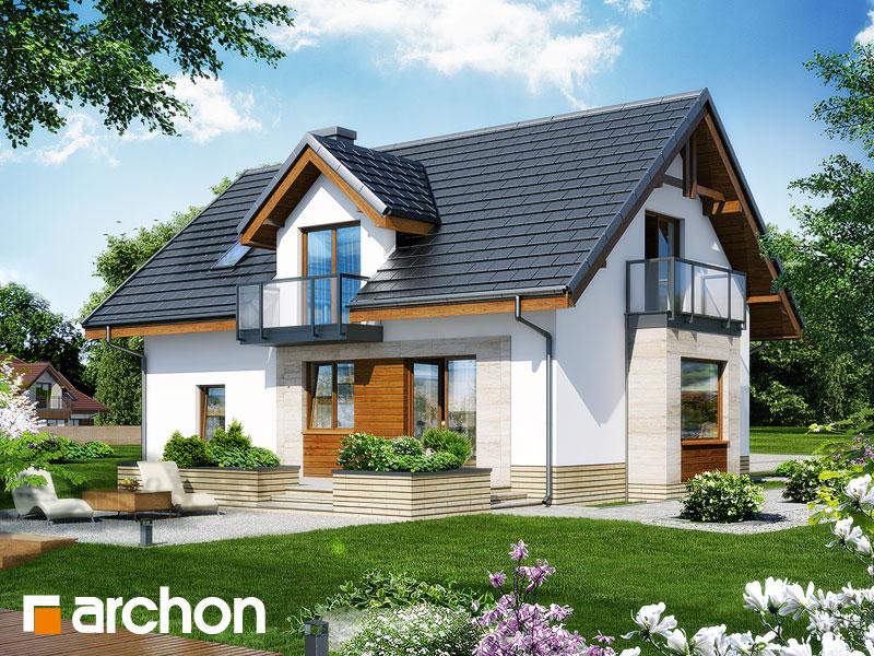 gotowy projekt Dom w rododendronach 15 (N) widok 1