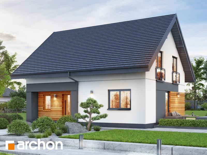 gotowy projekt Dom w malinówkach 11 (E) OZE widok 1