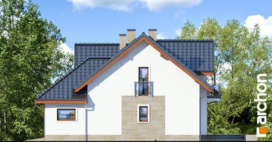 Elewacja boczna projekt dom w kortlandach g2p  265