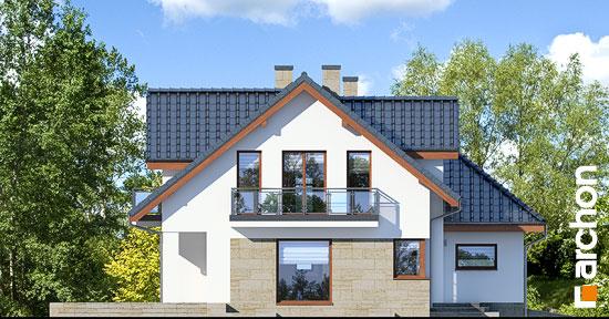 Elewacja boczna projekt dom w kortlandach g2p  266