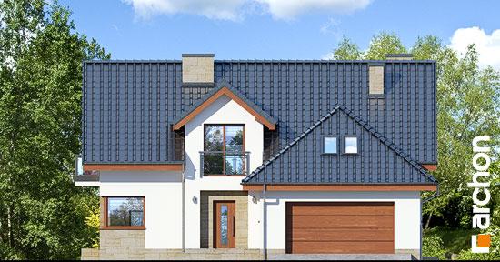 Elewacja frontowa projekt dom w kortlandach g2p  264