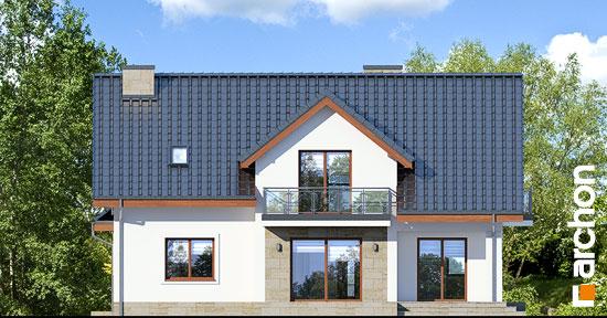 Elewacja ogrodowa projekt dom w kortlandach g2p  267
