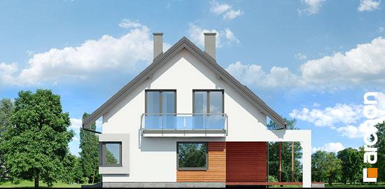 Elewacja boczna projekt dom w serduszkach  265