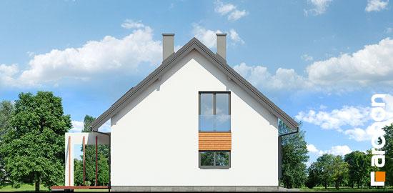Elewacja boczna projekt dom w serduszkach  266