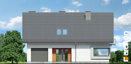 Elewacja frontowa projekt dom w serduszkach  264