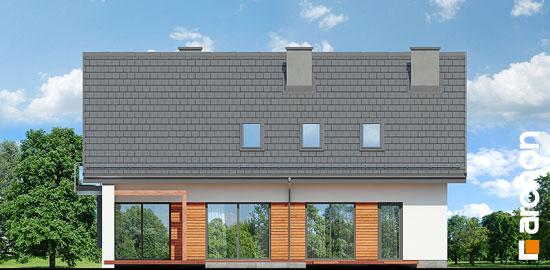 Elewacja ogrodowa projekt dom w serduszkach  267