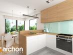 projekt Dom w serduszkach Wizualizacja kuchni 1 widok 1