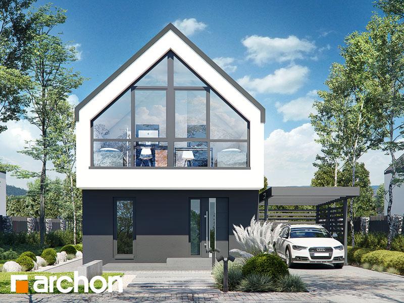 gotowy projekt Dom w muszkatach 3 widok 1