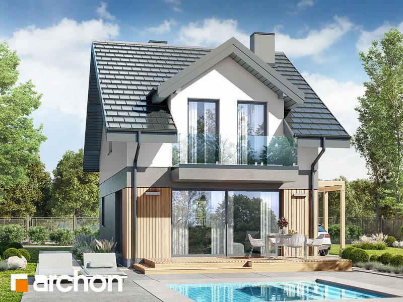 gotowy projekt Dom w klementynkach 2 widok 1
