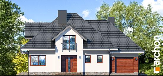 Elewacja frontowa projekt dom w sliwach 2 g  264