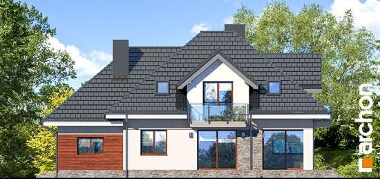 Elewacja ogrodowa projekt dom w sliwach 2 g  267
