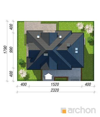 projekt Dom w śliwach 2 (G) sytuacja