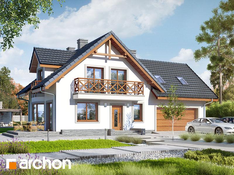 gotowy projekt Dom w rododendronach 3 (G2) widok 1