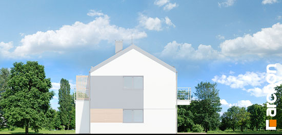 Elewacja boczna projekt dom w halezjach r2b  265