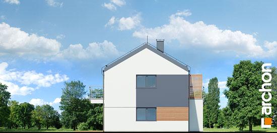Elewacja boczna projekt dom w halezjach r2b  266