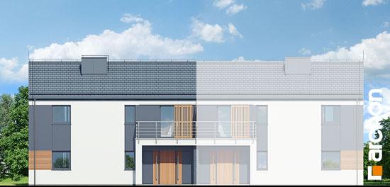 Elewacja frontowa projekt dom w halezjach r2b  264