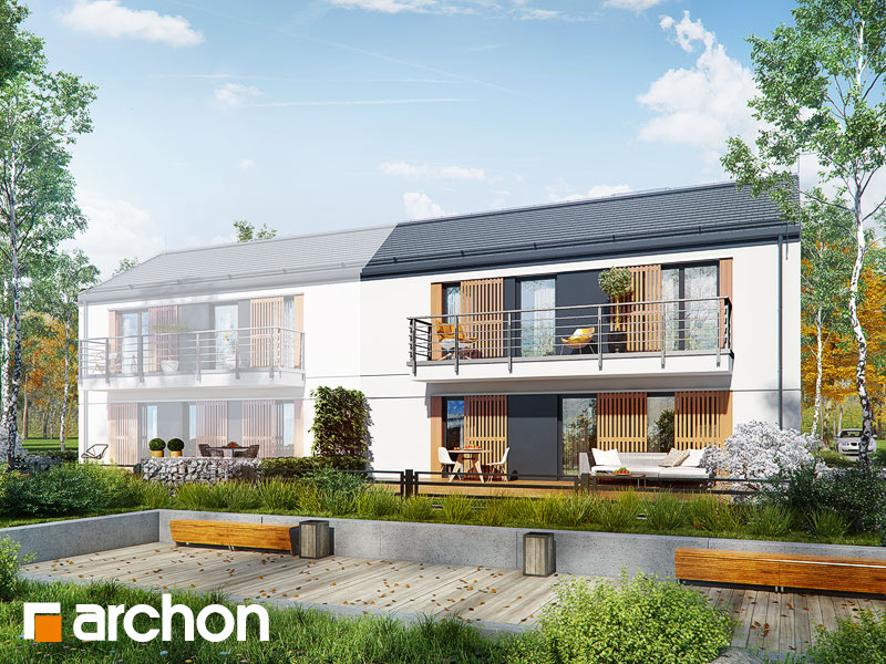 gotowy projekt Dom w halezjach (R2B) widok 1
