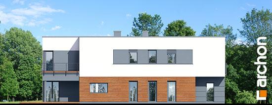 Elewacja boczna projekt dom w topinamburach g2a  265