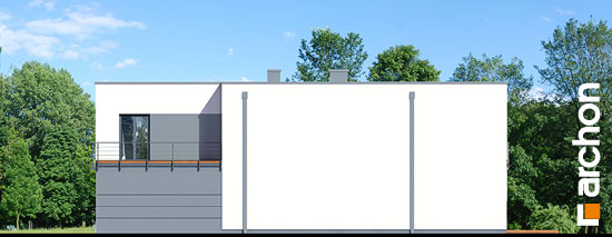 Elewacja boczna projekt dom w topinamburach g2a  266