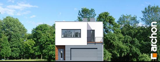 Elewacja frontowa projekt dom w topinamburach g2a  264