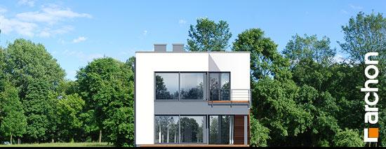 Elewacja ogrodowa projekt dom w topinamburach g2a  267
