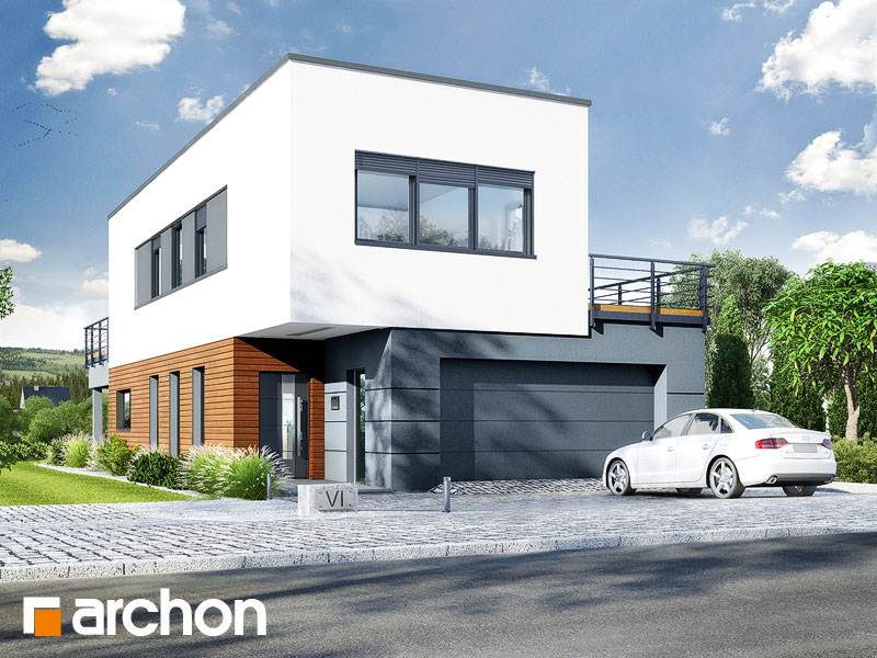 gotowy projekt Dom w topinamburach (G2A) widok 2