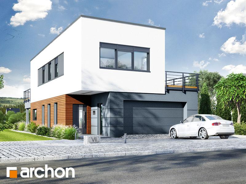 Widok 2 projekt dom w topinamburach g2a  290