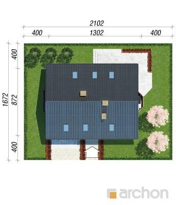 projekt Dom w skalniakach 3 sytuacja