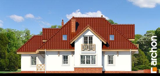 Elewacja boczna projekt dom w fuksjach 4 ver 2  265
