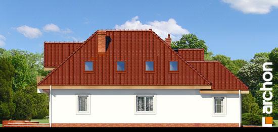 Elewacja boczna projekt dom w fuksjach 4 ver 2  266