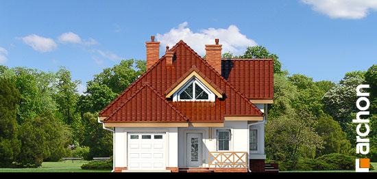 Elewacja frontowa projekt dom w fuksjach 4 ver 2  264