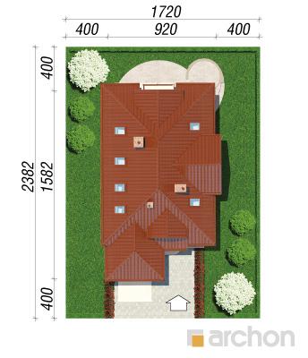 projekt Dom w fuksjach 4 sytuacja