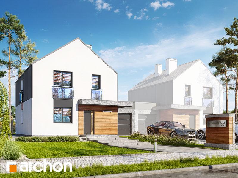 gotowy projekt Dom w arkadiach 3 (GBT) widok 1
