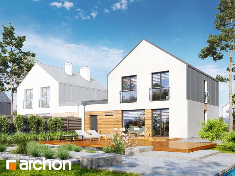 gotowy projekt Dom w arkadiach 3 (GBT) widok 2