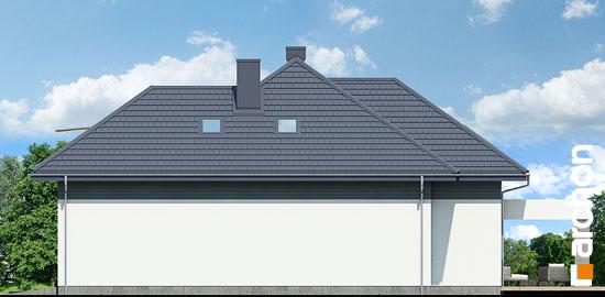 Elewacja boczna projekt dom w maciejkach g2  265