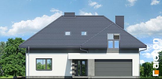 Elewacja frontowa projekt dom w maciejkach g2  264