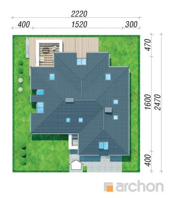 projekt Dom w maciejkach (G2) sytuacja