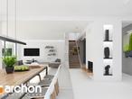 projekt Dom w maciejkach (G2) Strefa dzienna (wizualizacja 1 widok 4)