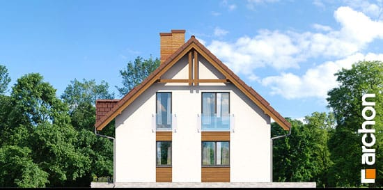 Elewacja boczna projekt dom w poziomkach ver 2  265