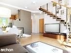 projekt Dom w poziomkach Strefa dzienna (wizualizacja 1 widok 1)