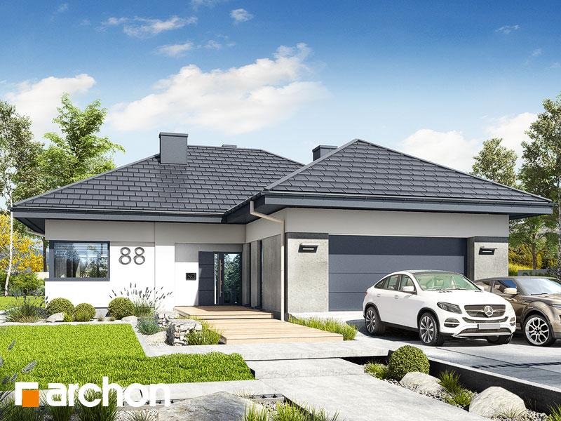 gotowy projekt Dom w przebiśniegach 5 (G2) widok 1